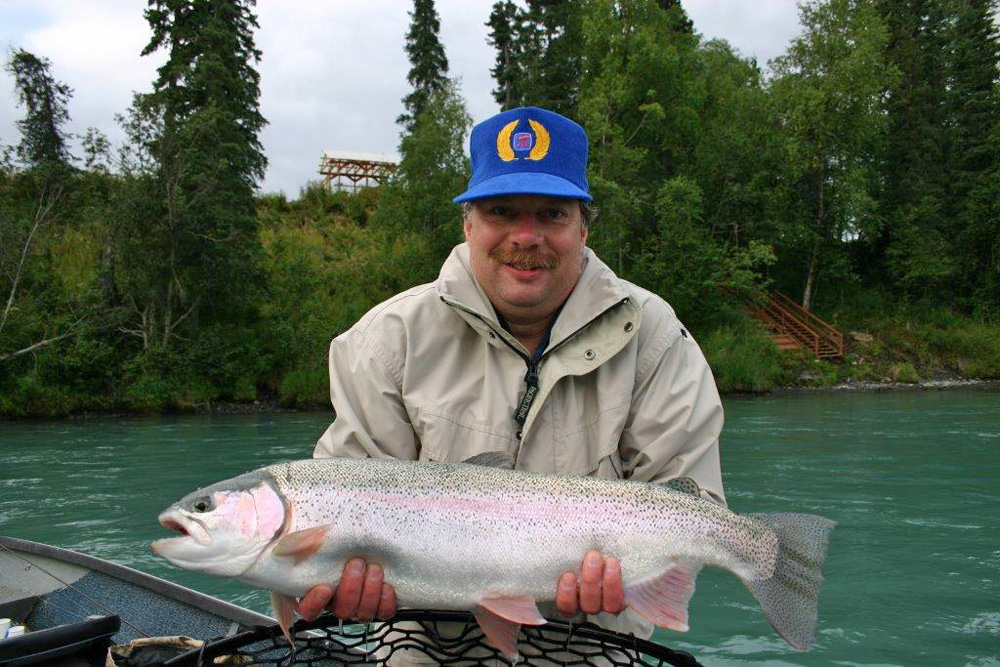 30 Inch Rainbow Trout Caught From The Kenai 1000