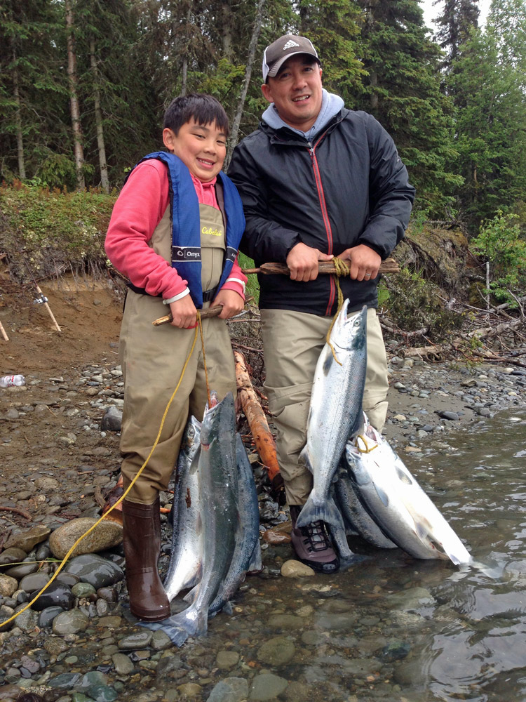 Father Son Sockey Salmon Adventure Alaska 1000