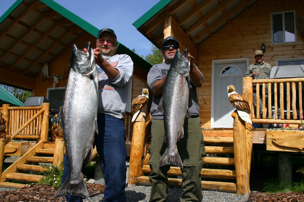Fishermen With Big King Salmon From Alaskas Kenai River 1000