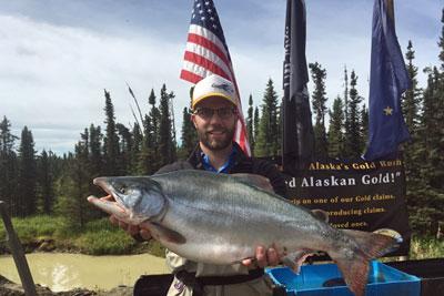Huge Pink Salmon Caught on Kenai River Alaska