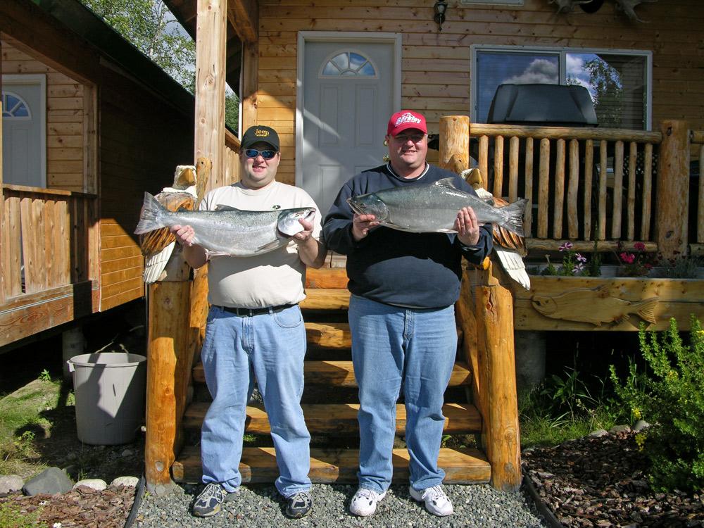 Guys At Alaska Fishing Lodge Catching Cohos 1000