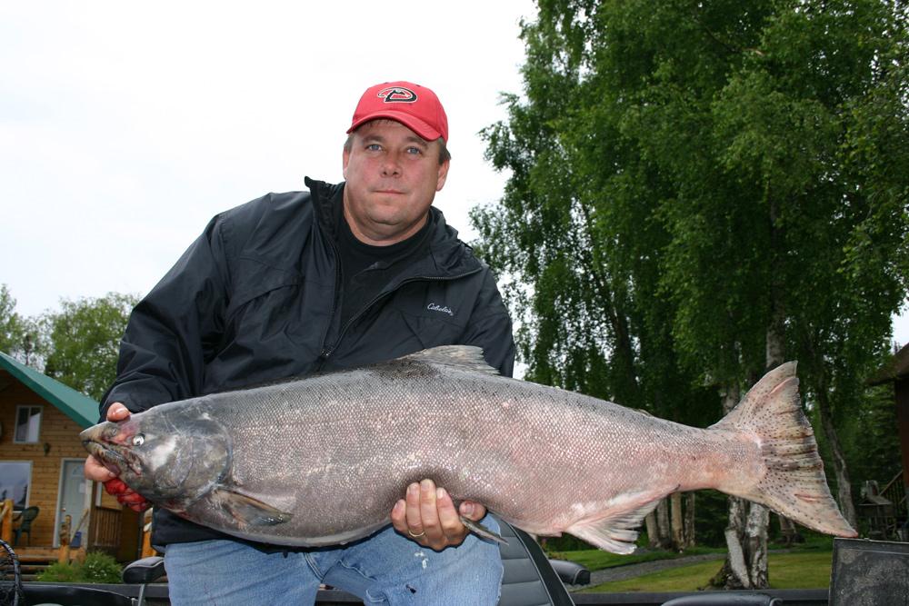 Happy Fishermen With Big Kenai King Salmon 1000
