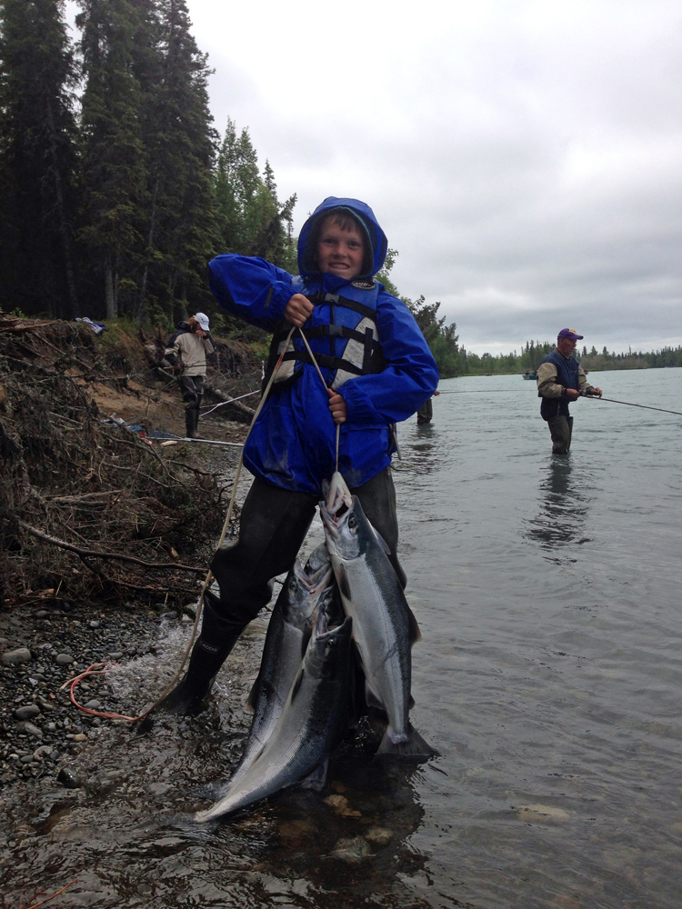 Kids With Limits Of Alaska Sockeye Salmon Kenai River 1000