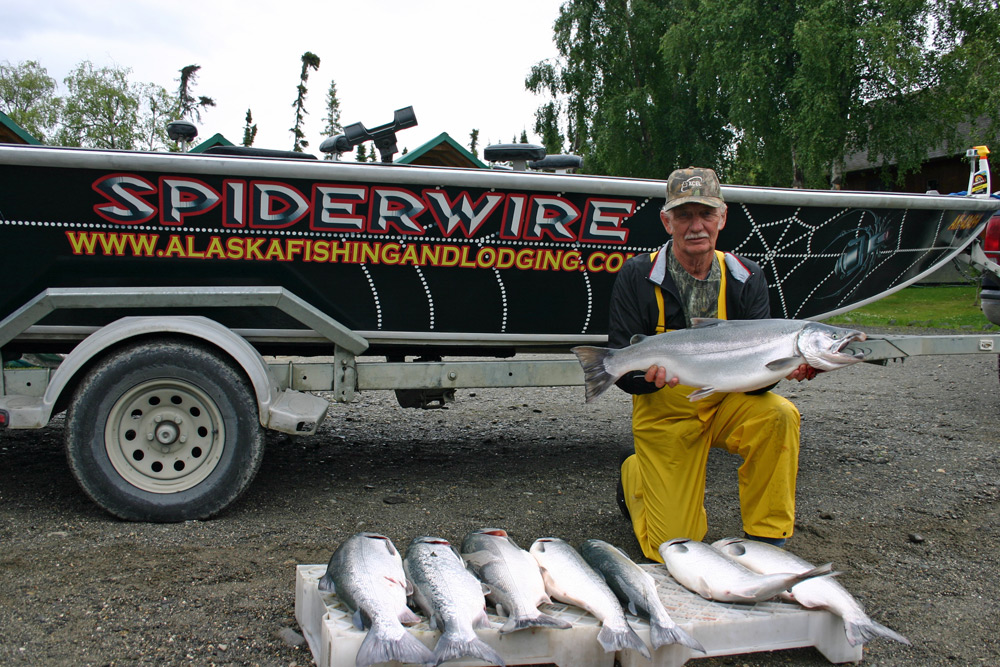 Spider Wire Boat Load Of Coho With Kenai River Guides
