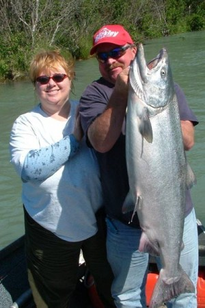 Alaska salmon fishing trips with Tyland Vanlier